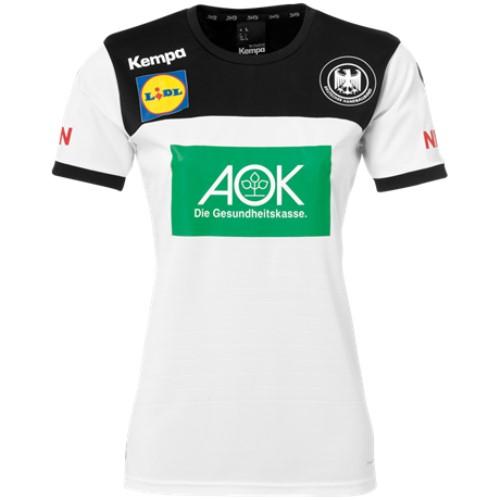 ケンパ ハンドボール ドイツ代表 スポンサーロゴ入りユニフォーム ホワイト レディース 2018/19