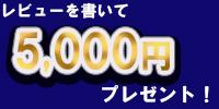 レビューを書いて5000円プレゼント